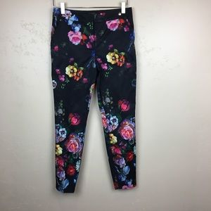 Ted Baker London floral trousers pants slacks sz 1